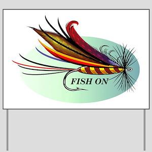 Fish On Yard Sign