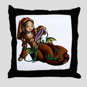 Lady Merewalds Pets Throw Pillow
