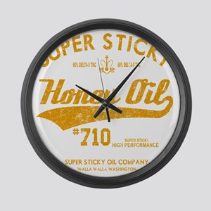 Super Sticky Honey Oil Large Wall Clock