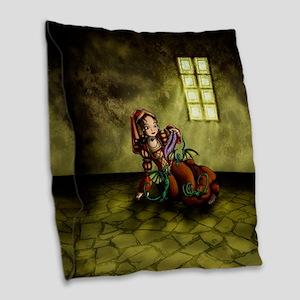 Lady Merewalds Pets Burlap Throw Pillow