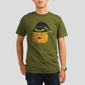 Cute and Happy Pumpki Organic Men's T-Shirt (dark)