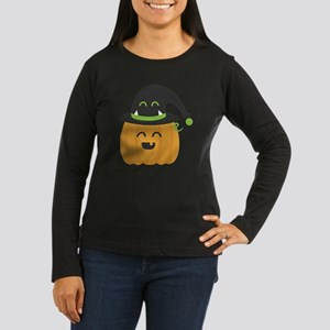 Cute and Happy Pu Women's Long Sleeve Dark T-Shirt