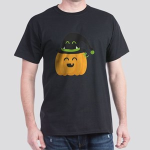 Cute and Happy Pumpkin with Monster H Dark T-Shirt