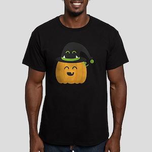Cute and Happy Pumpkin Men's Fitted T-Shirt (dark)