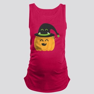 Cute and Happy Pumpkin with Mon Maternity Tank Top