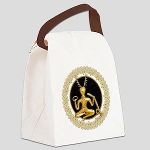 Gold Cernunnos & Spirals #5 Canvas Lunch Bag