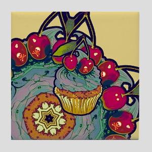 Deadly Cupcake Tile Coaster