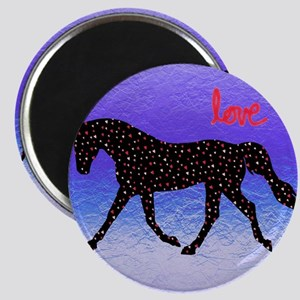 Horse Love and Hearts Magnet