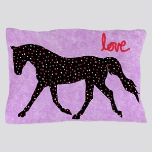 Horse Love and Hearts Pillow Case
