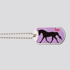 Horse Love and Hearts Dog Tags