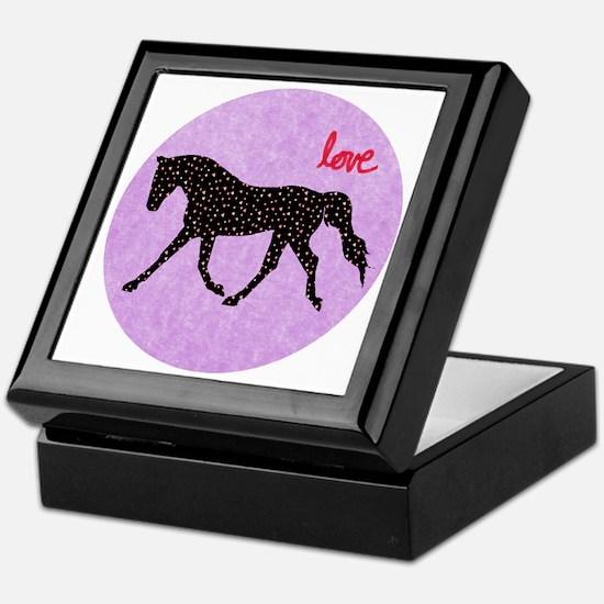 Horse Love and Hearts Keepsake Box