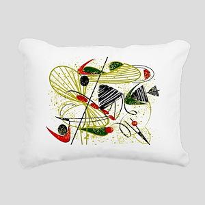 atomic funky rug Rectangular Canvas Pillow