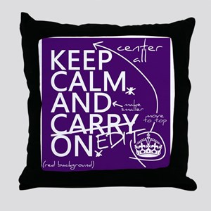 Keep Calm and Edit On Throw Pillow