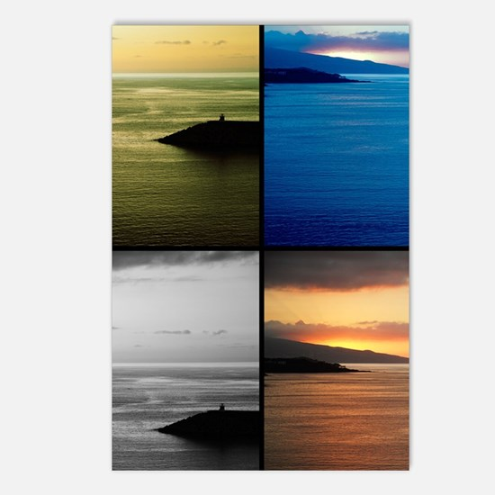 Quadriptych seascape Postcards (Package of 8)