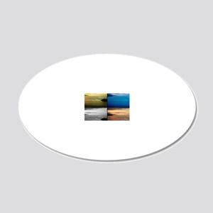 Quadriptych seascape 20x12 Oval Wall Decal