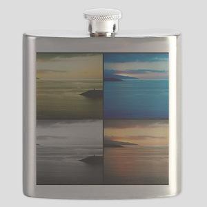 Quadriptych seascape Flask