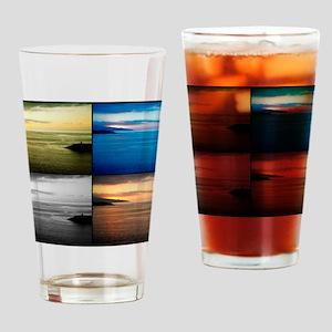 Quadriptych seascape Drinking Glass