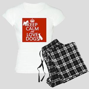 Keep Calm and Love Dogs Women's Light Pajamas