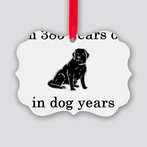 55 birthday dog years lab Picture Ornament