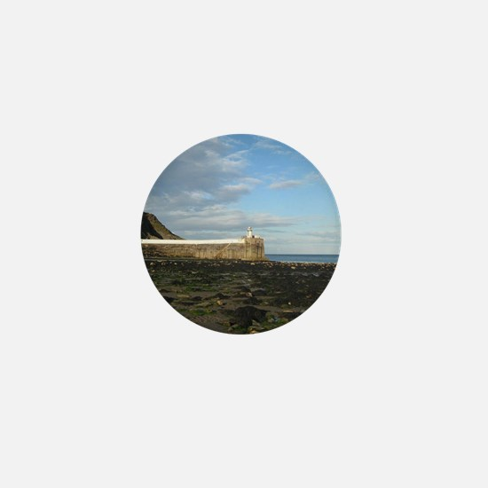 Laxey Beach, Isle of Man Mini Button
