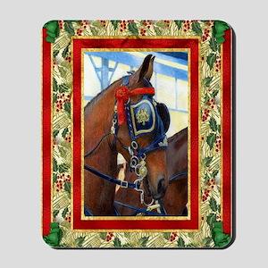 Cleveland Bay Horse Christmas Mousepad