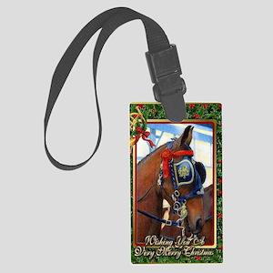 Cleveland Bay Horse Christmas Large Luggage Tag