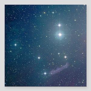 "Pleiades Ornaments set o Square Car Magnet 3"" x 3"""