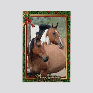 Paint Horse Christmas Rectangle Magnet
