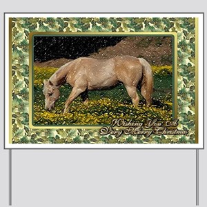 Palomino Quarter Horse Christmas Yard Sign
