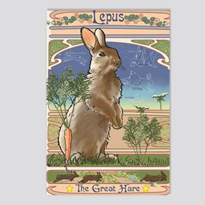 Art Nouveau Rabbit Postcards (Package of 8)