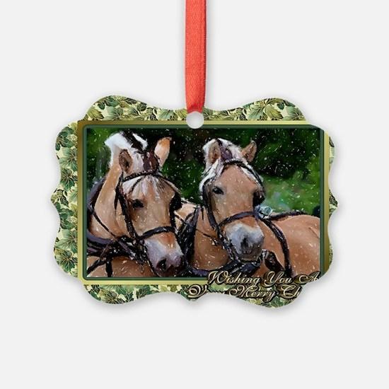 Norwegian Fjord Horse Christmas Ornament