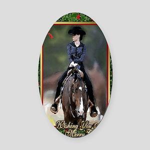 Quarter Horse Western Pleasure Chr Oval Car Magnet