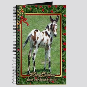 Spotted Mule Foal Christmas Journal