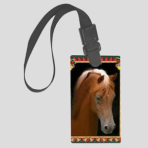 Arabian Horse Christmas Large Luggage Tag
