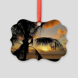 Sunset north shore Oahu Picture Ornament