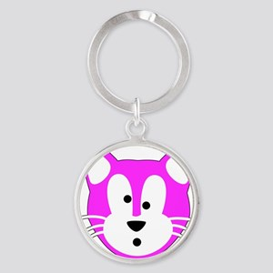 Jamie Cat for Aprons Round Keychain