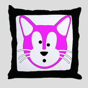 Jamie Cat for Aprons Throw Pillow