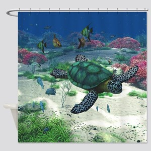 st_Round Tablecloth 1174_H_F Shower Curtain
