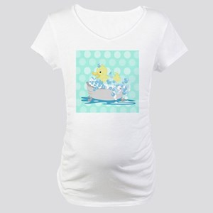 Duck in Tub Shower Curtain (Teal Maternity T-Shirt