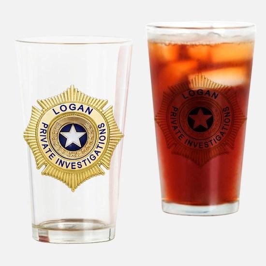 Logan PI Badge 6x6_pocket Drinking Glass