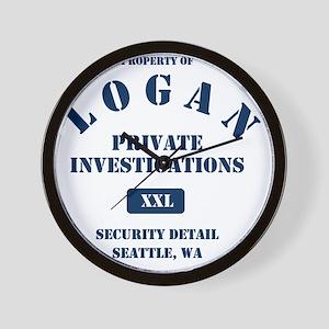 Property of Logan PI Wall Clock