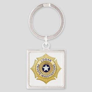 Logan PI Badge 6x6_pocket Square Keychain