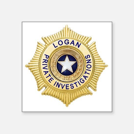 "Logan PI Badge 6x6_pocket Square Sticker 3"" x 3"""