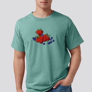 STRAWBERRIES and BLUEBERRIES Mens Comfort Colors S