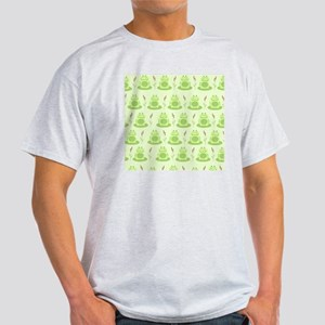 Frog Shower Curtain (Green) Light T-Shirt