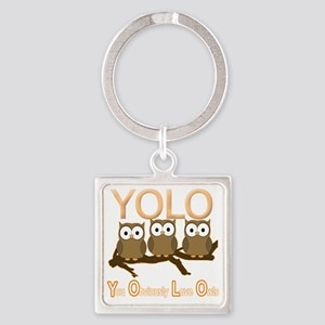 YOLO Square Keychain