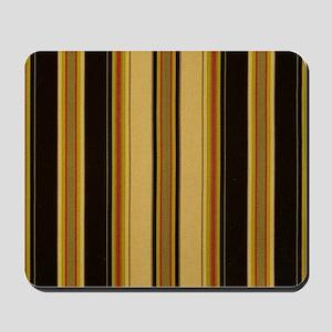 Bold Black and Tan Striped Mousepad