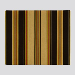 Bold Black and Tan Striped Throw Blanket