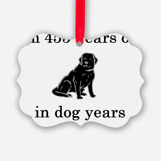 65 birthday dog years lab Ornament