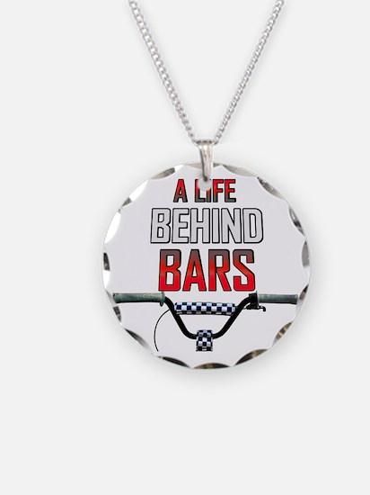 BMX A Life Behind Bars Necklace Circle Charm